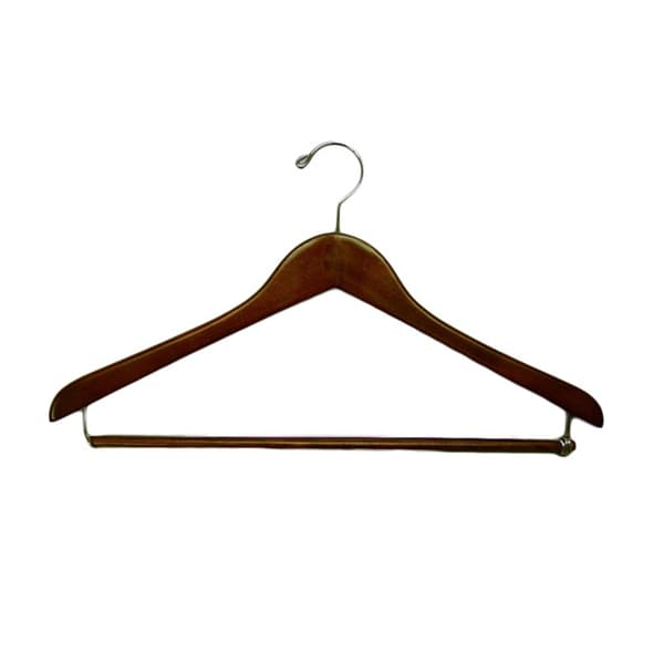 Gemini Concave Suit Hanger with Lock Bar