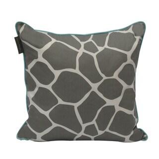 Giraffe Print 20-inch Reversible Decorative Pillow with Down Alternative Fill