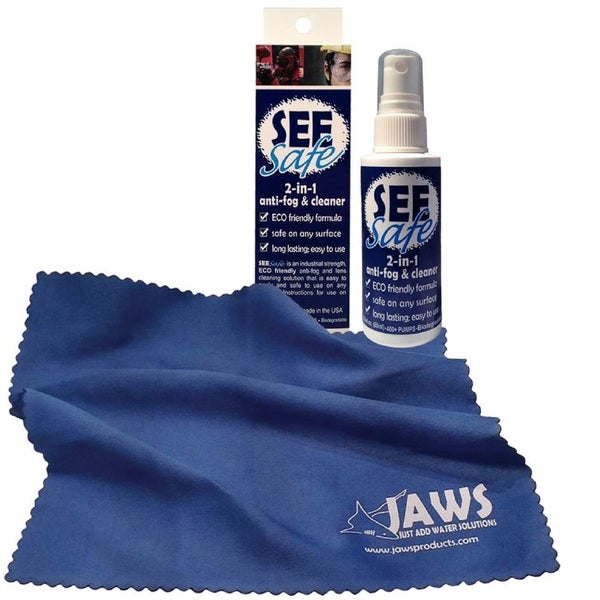 Jaws 2-ounce SEESafe 2-in-1 Antifog and Cleaner with Jaws Cloth