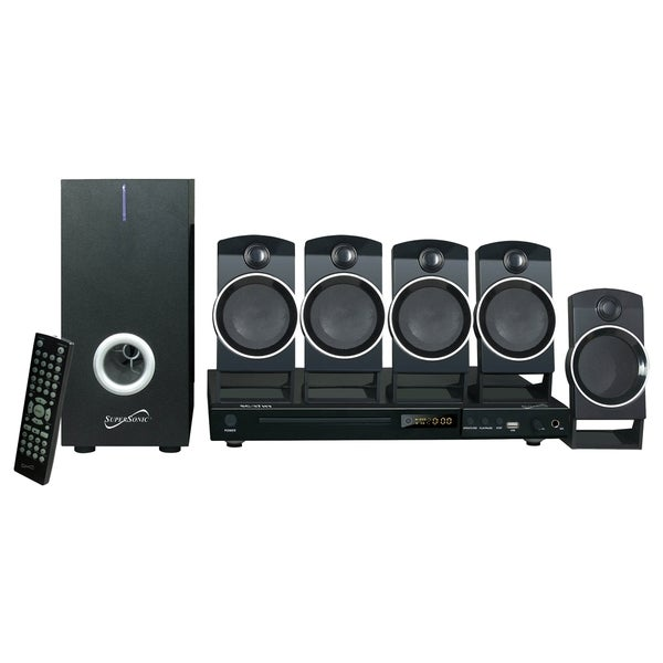 Supersonic 5.1 Channel DVD Home Theater System with USB Input & Karaoke Function (As Is Item)