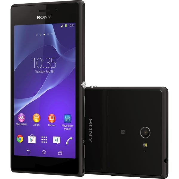 Sony Mobile Xperia M2 Smartphone - Wireless LAN - 4G - Bar - Black (As Is Item)
