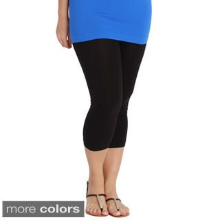 Nikibiki Women's Plus-size Seamless Capri Leggings