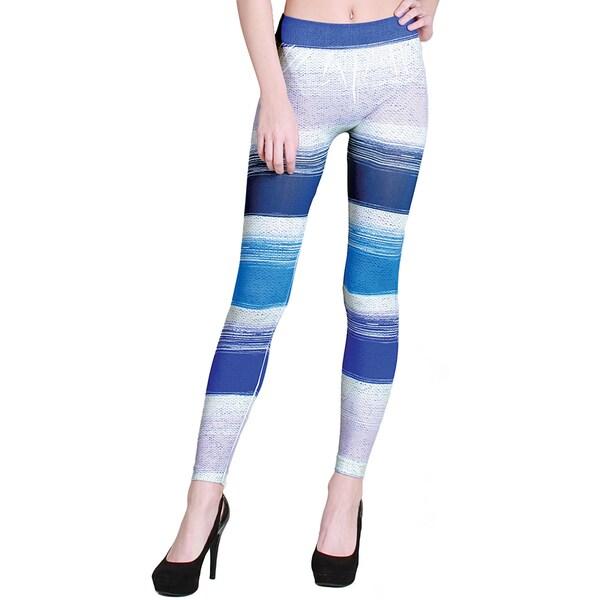 Nikibiki Women's Seamless Moody Blues Sublimation Long Leggings