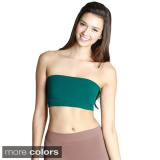 Nikibiki Women's Seamless Green/ Grey Bandeau Top