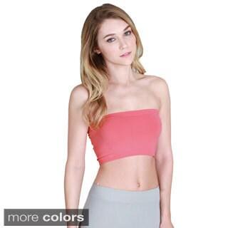 Nikibiki Women's Seamless Solid Color Bandeau Top