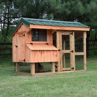 Tucker's Coops 'Nancy' Hand-crafted Pre-assembled Solid Wood Chicken Coop and Run