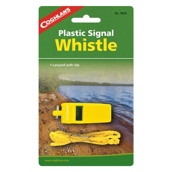 Coghlans Signal Whistle - Yellow Plastic