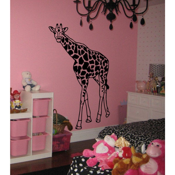 Giraffe Vinyl Sticker Wall Art