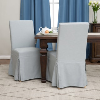 Chambray Cotton Dining Chair Slipcover Overstock