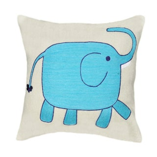 Blue Elephant Decorative Pillow