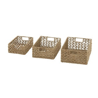Wonderfully Crafted Sea Grass Baskets (Set of 3)