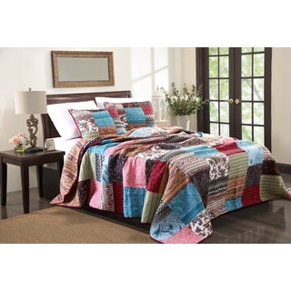 Greenland Home Fashions New Bohemian 3-piece Quilted Bedspread Set