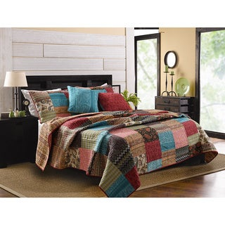 Greenland Home Fashions New Bohemian Cotton Bonus 5-piece Quilt Set