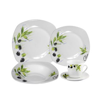 Porcelain Olive Dinnerware 20-piece Set