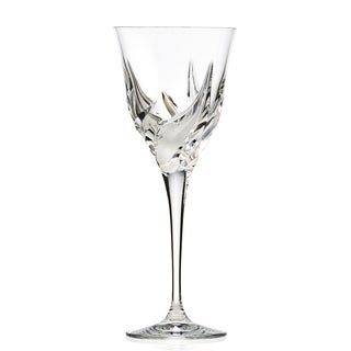 Cetona Collection Hand-cut Red White Goblet from the DaVinci Line (Set of 4)