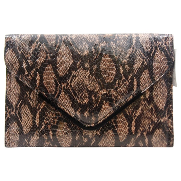 BCBGeneration Anise Charcoal Envelope Clutch
