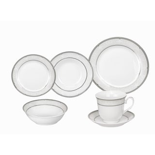 Lorren Home Trends Ballo Porcelain Dinnerware 24-piece Set