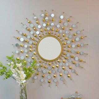 Eliane Round Sunburst Mirror