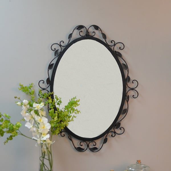 Kimberly Oval Scroll Mirror