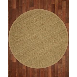 Pinamar Round Sage/ Khaki Seagrass Rug (6' x 6')