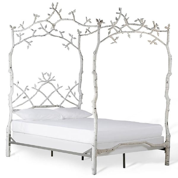 Corsican 43620 White Iron Mature Trees Queen Bed Frame