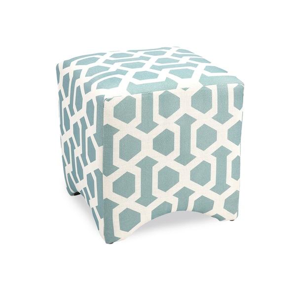 Tanya Blue Geometric Cube