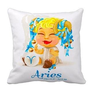Mia Lee Baby Zodiac Aries Throw Pillow