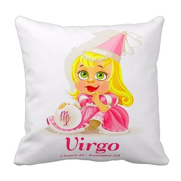 Mia Lee Baby Zodiac Virgo Throw Pillow