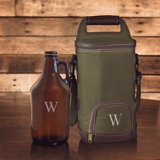 Personalized Insulated Growler Cooler w/ Amber Growler