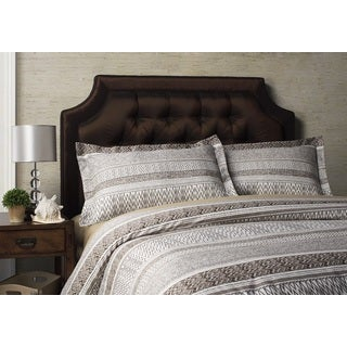 Jennifer Taylor Brown Finlee Collection 300 Thread Count 3-piece Duvet Cover Set