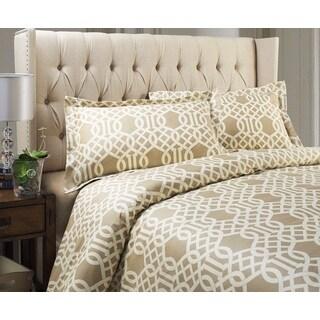 Carmel Collection 300 Thread Count Cotton 3-piece Duvet Cover Set