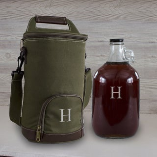 Personalized Insulated Growler Cooler with Clear Growler
