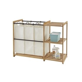 Trinity EcoStorage 3-Bag Bamboo Laundry Station