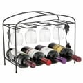 Sorbus Classic Style Black Finished Wine Rack