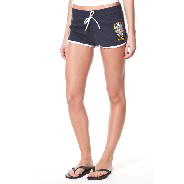 NYPD Women's Navy Shorts with White Piping