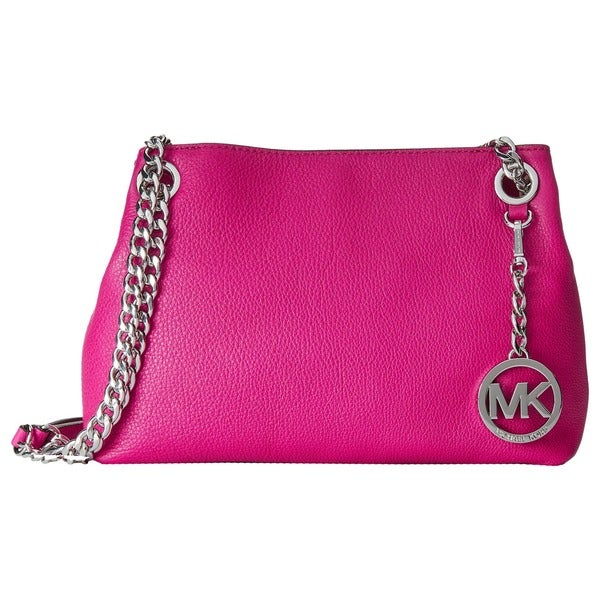 MICHAEL Michael Kors Jet Set Fuchsia Chain Medium Messenger Bag