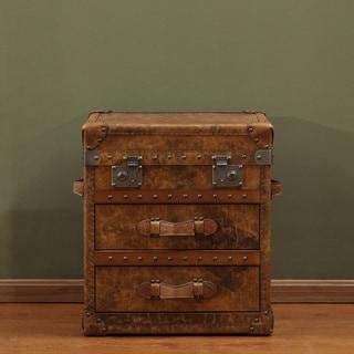 Lazzaro Leather General 4-drawer Flip Top Steamer Chest