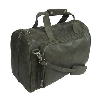 Amerileather 18-inch Moss Green Leather Carry-on Weekend Duffel