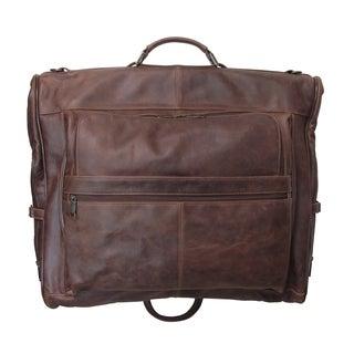 Amerileather Distressed Vintage Moss 3-suit Garment Bag