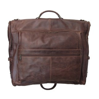 Amerileather Vintage Moss Three-suit Garment Bag
