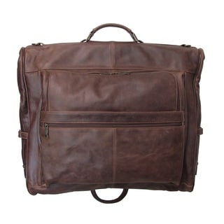 Amerileather Cannon Leather 3-suit Garment Bag