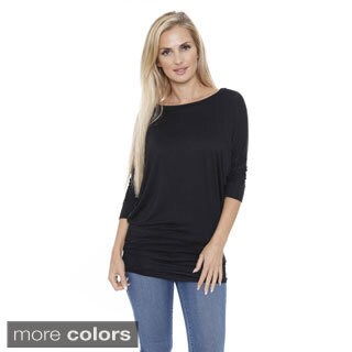 White Mark Women's Boatneck Dolman Tunic Top