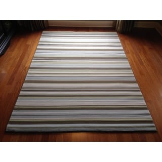 Stripes Transitional Modern Contemporary Area Rug (6'6 x 9'6)