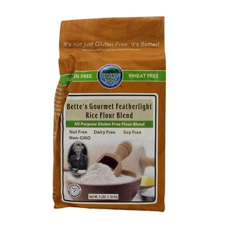 Authentic Foods 3-pound Bette's Featherlite Gluten Free Rice Flour (Pack of 2)