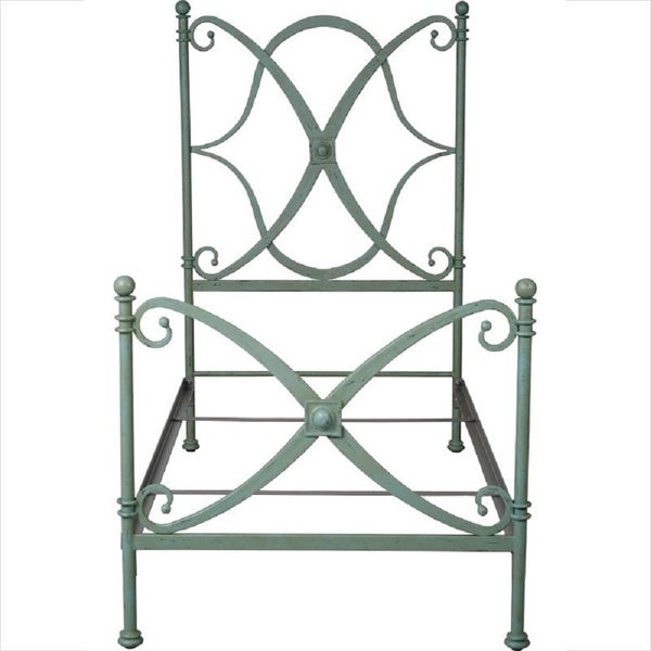 Corsican 41808 Had-forged Iron New Orleans Queen Bed