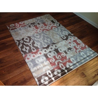 Brown Grey Beige Geometric Modern Contemporary Area Accent Rug (2' x 3')