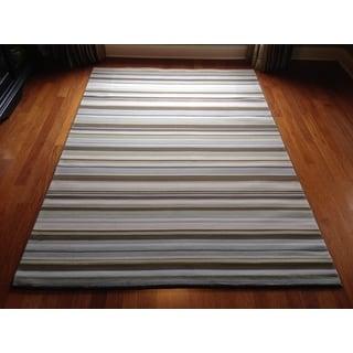 Stripes Multicolor Soft Plush Contemporary Area Rug (2' x 3')