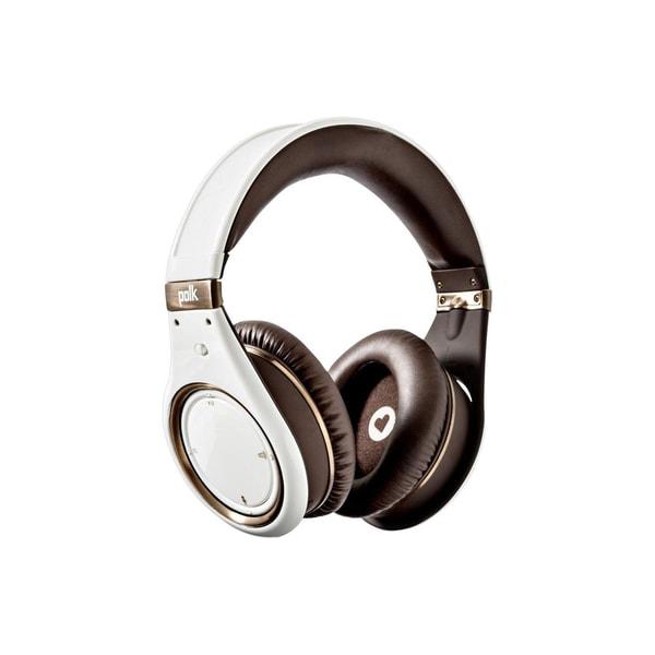 Polk Audio UltraFocus 8000LE Noise Canceling Headphones (White/Brown)