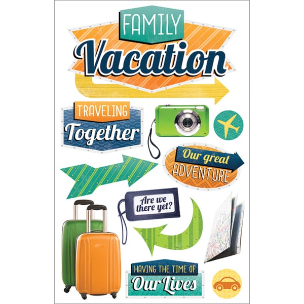 Paper House 3D StickersFamily Vacation