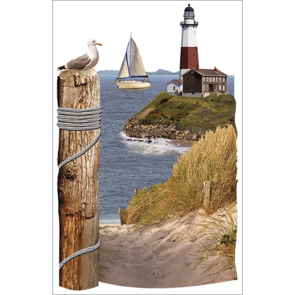 Paper House 3D Stickers 4.5inx8.5inLighthouse Scene